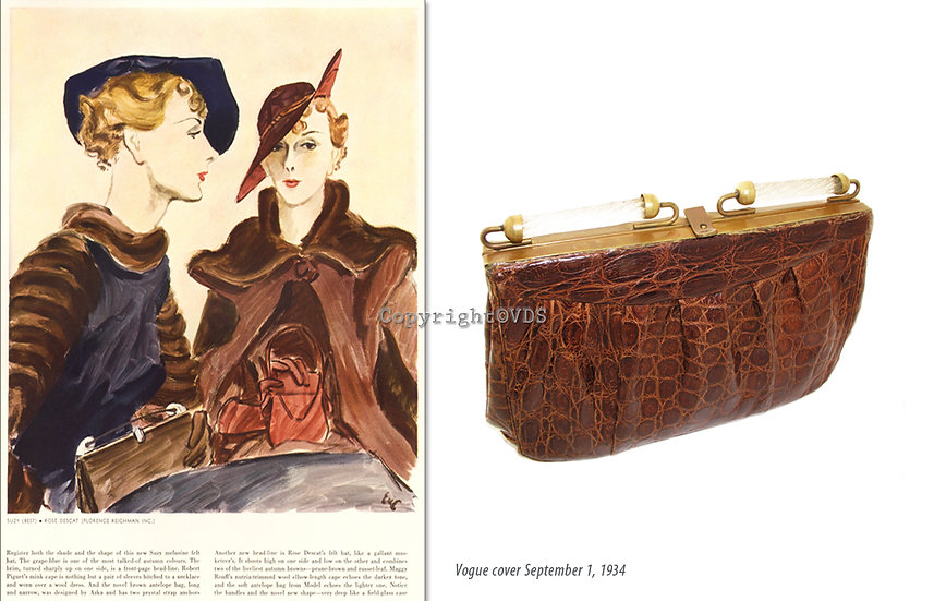 Azka Vogue 1934 Alligator Prystal Bag Print P-027