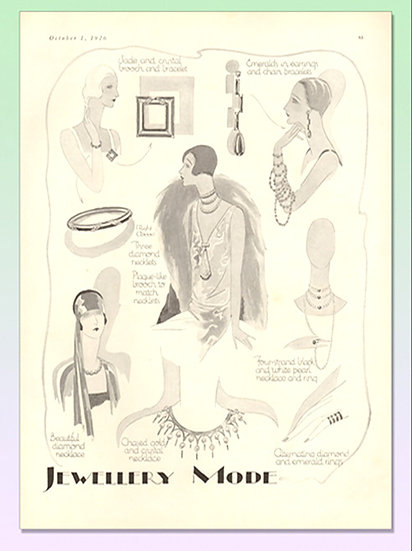 Art Deco Jewelry 1926 Vogue Ad Art Print FA-004