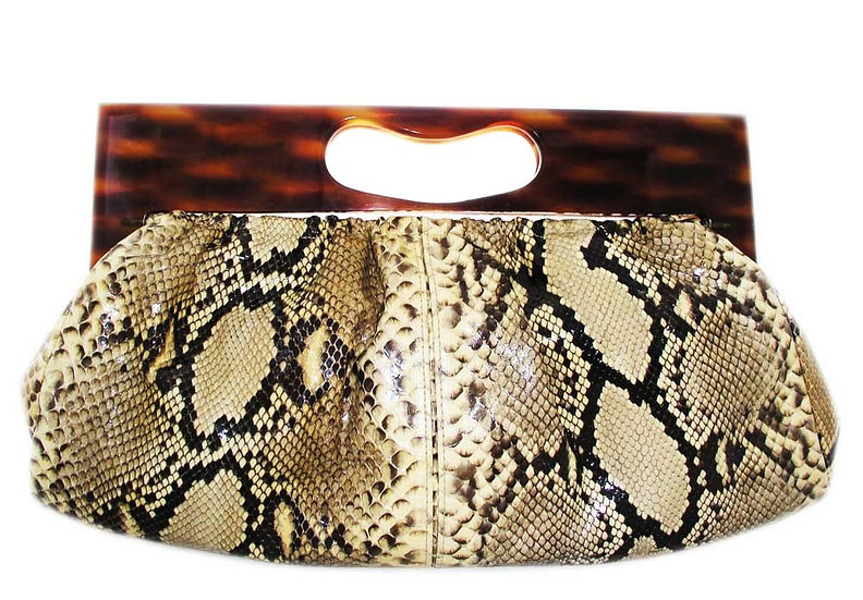 COLLECTOR Python Clutch Purse Rare Lucite CB-013