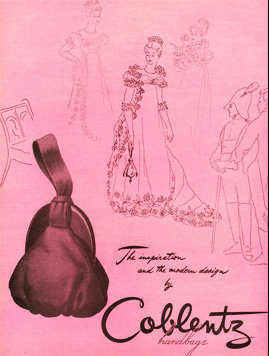 Coblentz Purse Vogue Ad 1946 Print AP-053