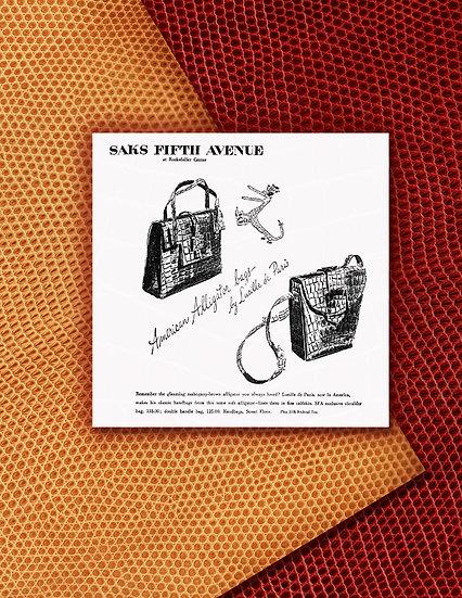 Lucille de Paris Handbags 1943 Ad Print FA-008