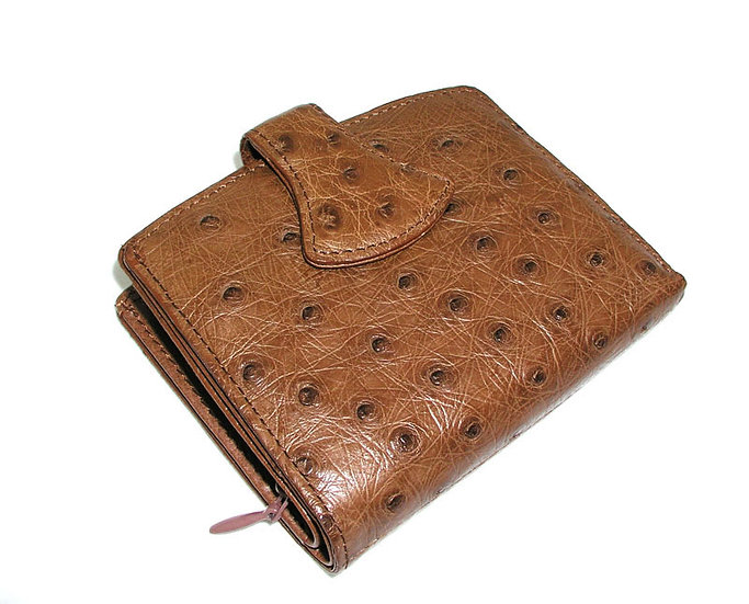 NEIMAN MARCUS Vintage Ostrich Skin Wallet VEB-059