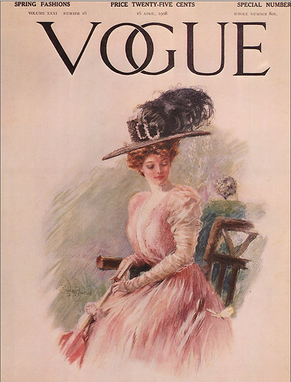 Vogue cover April 16, 1908 Fashion Print AP-008