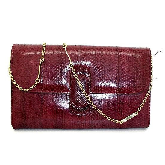 BENTLEY Vintage Snakeskin Clutch Purse     VEB-044