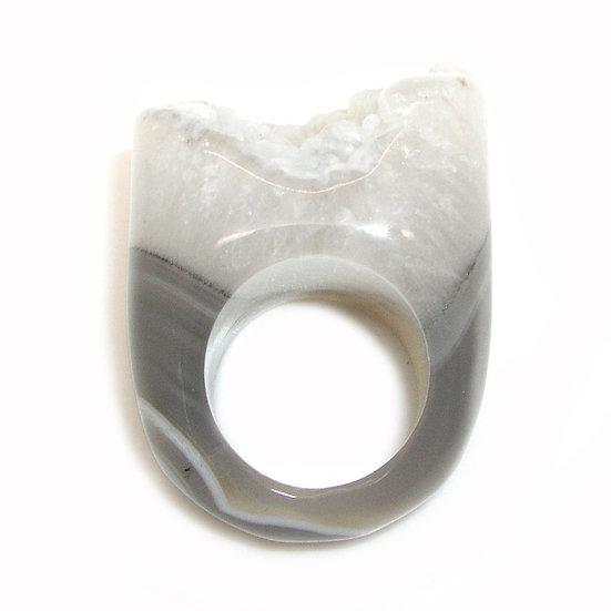 Agate Unisex Ring sz 7.25 GR-007