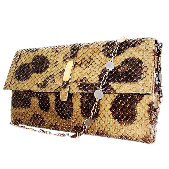 ZIRAS Vintage Snakeskin Clutch Purse Camo  VEB-038