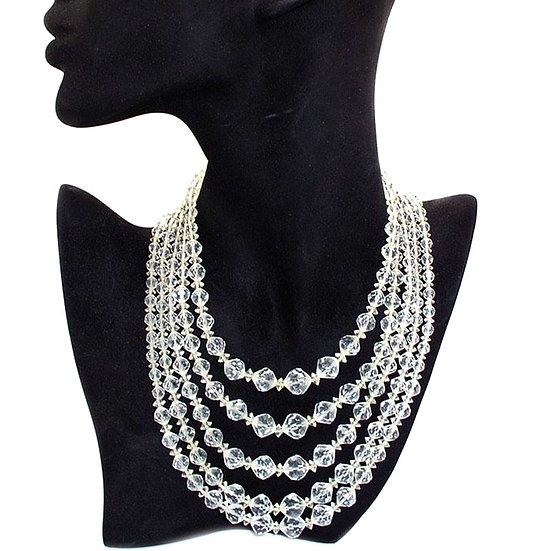 Laguna Crystal 5 Strand Necklace VJ-012