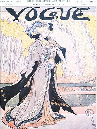 Vogue Cover March 19, 1908 Fashion Print AP-001