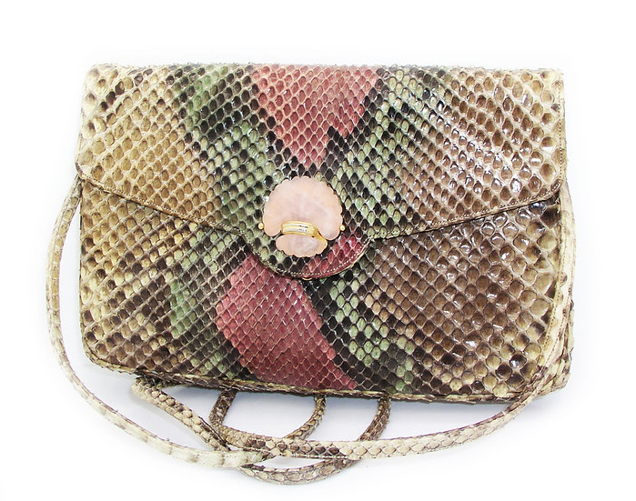 JUDITH LEIBER Vintage Python Bag Quartz VDB-008
