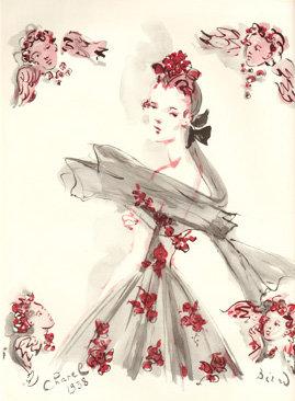 Chanel Dress Vogue Ad 1938 Fashion Print AP-013