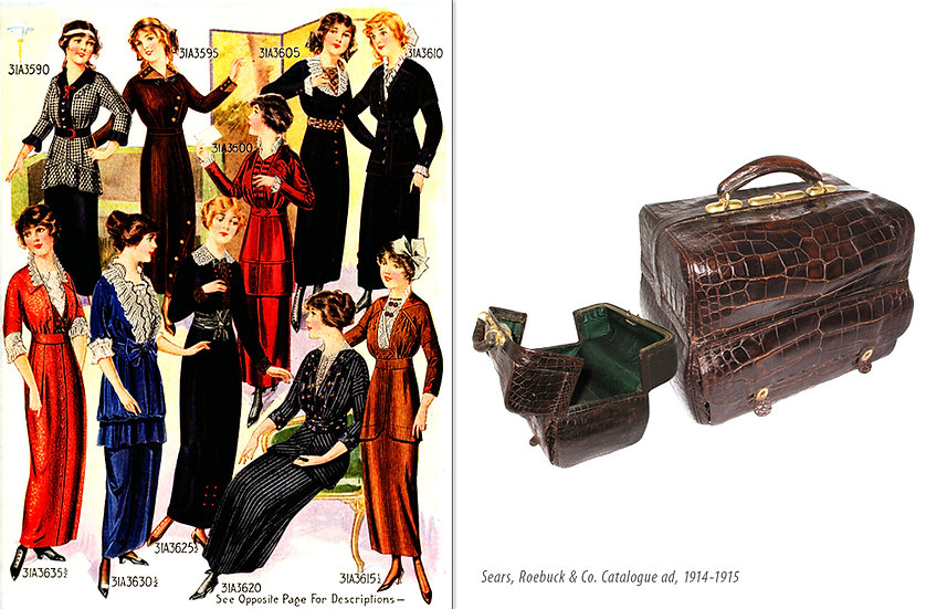 Edwardian Fashion 1915 Gladstone Print P-042