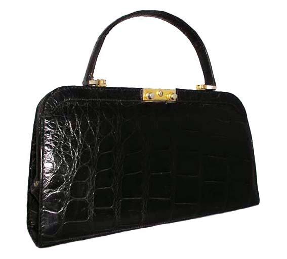 FRANCE Vintage Crocodile Frame Bag         VEB-016