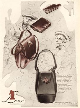 Lesco Handbags Vogue Ad 1947 Art Print AP-049