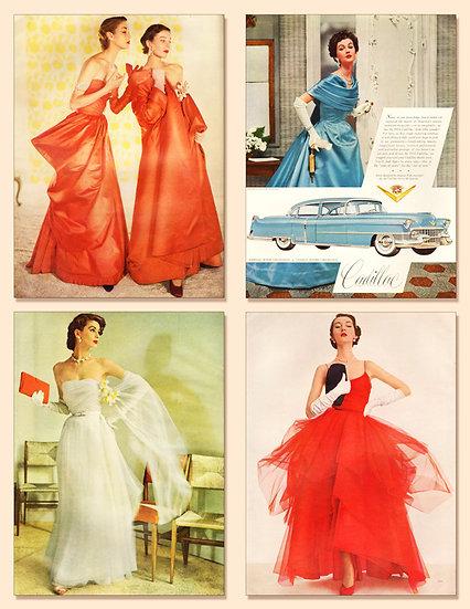 Nettie Rosenstein Vogue Ad 1950 Print AP-046