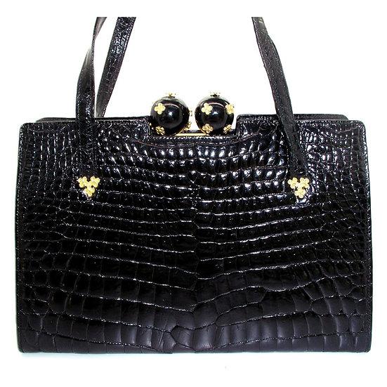 SACHA Crocodile Bag Bakelite France  Rare CB-036