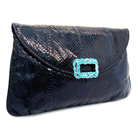 J. RENEE Vintage Snakeskin 2-way Handbag   VEB-035