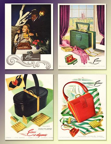 Evans Handbags 1947 Ad Art Print FA-012