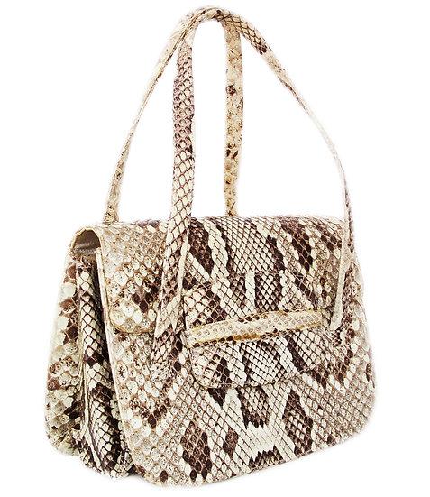 PRESTIGE Python Satchel Snakeskin Bag  VDB-014