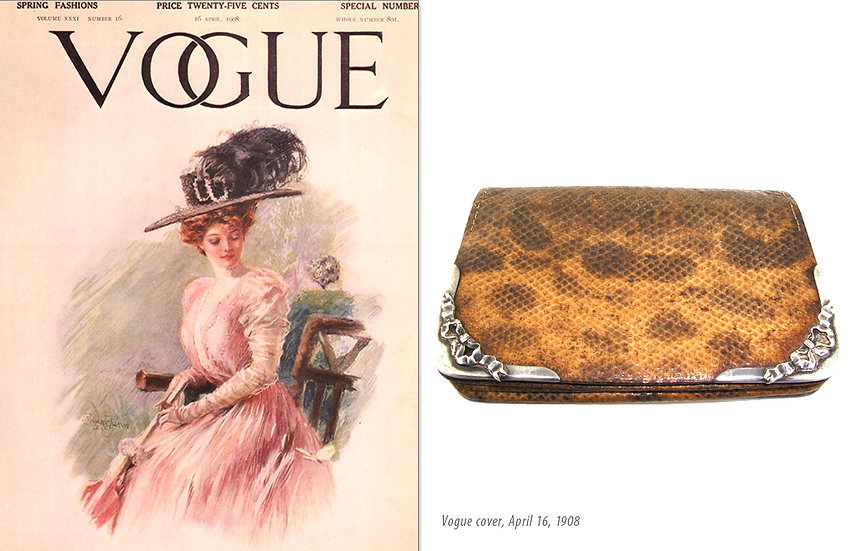 Vogue 1908 Victorian Tiffany Wallet Print P-047