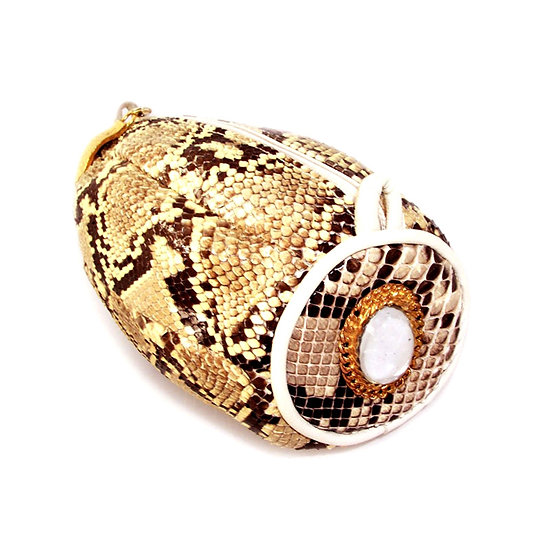 Moonstone Vintage Python Clutch Purse VEB-056