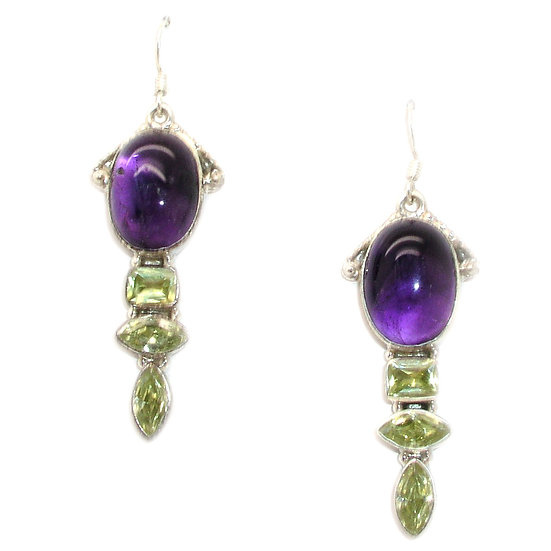 Amethyst Quartz Earrings GE-007