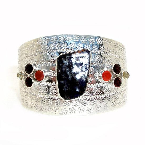 Garnet Opal Cuff Bracelet GB-002