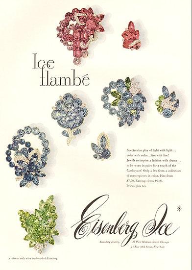Eisenberg Ice Jewelry Vogue Ad 1960 Print AP-037