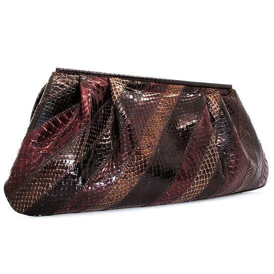 SUSAN GAIL Snakeskin Clutch Bag VEB-058