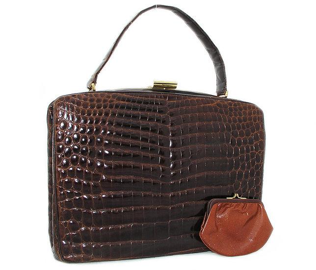 ROSENFELD Alligator Brief Handbag Germany CB-034