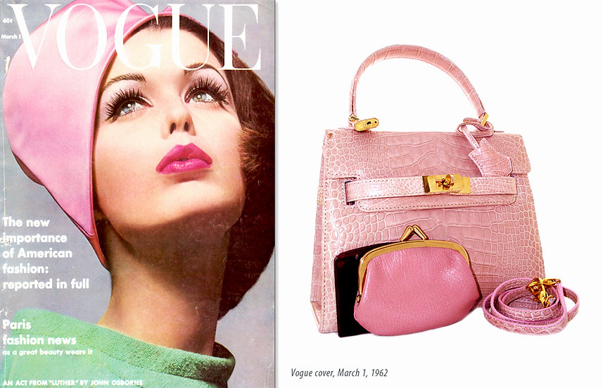 MOD 1962 Vogue Pink Alligator Purse Print P-006