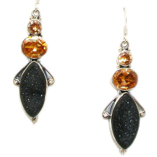 Quartz Druzy Earrings GE-009