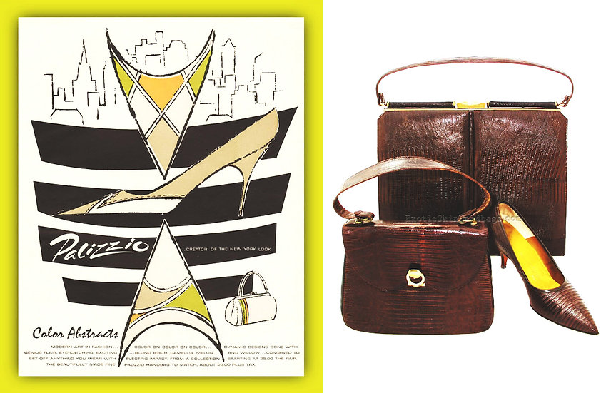 Palizzio 1961 Harper's Bazaar Ad Print P-007