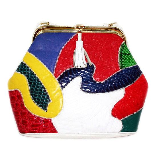 PALIZZIO Snakeskin Leather Shoulder Bag VTG