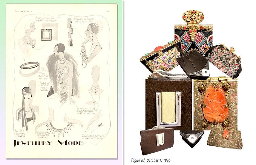 Art Deco Vogue 1926 Jewelry Ad Bags Print P-041