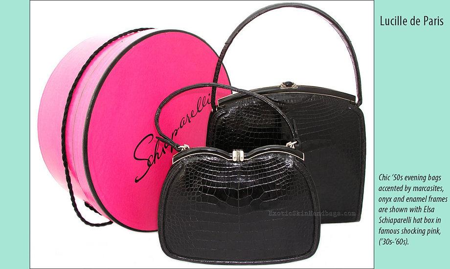Lucille de Paris Black Alligator Bags Print P-003