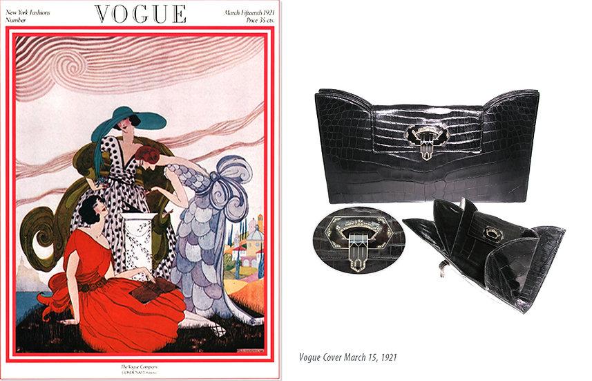 Vogue 1921 Art Deco Crocodile Clutch Print P-032