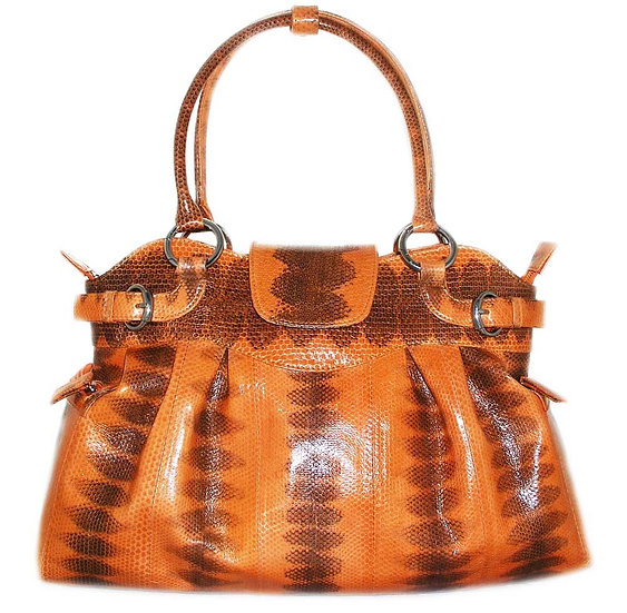 TANGERIN Genuine Snakeskin Shopper Bag     VEB-011