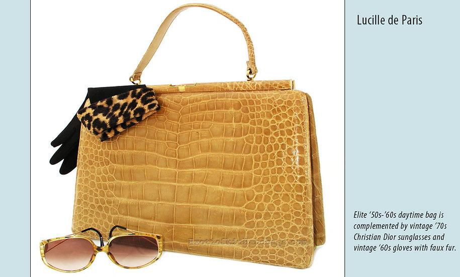 Lucille de Paris Crocodile Bag Dior Print P-004