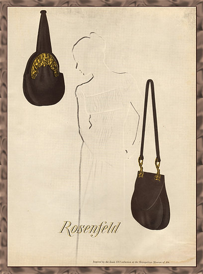 Rosenfeld Purses Vogue Ad 1946 Fashion Print