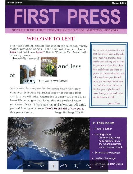 FPC Lent 2019 Newsletter