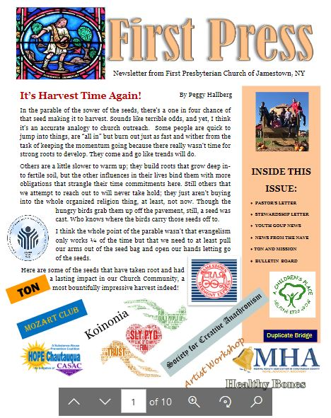 Harvest 2019 Newsletter
