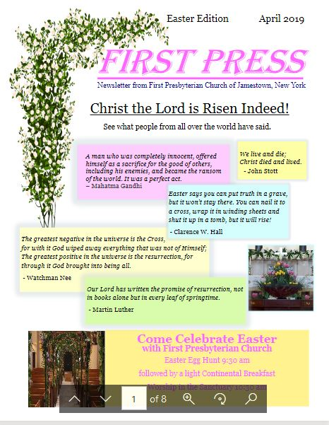 FPC Easter 2019 Newsletter