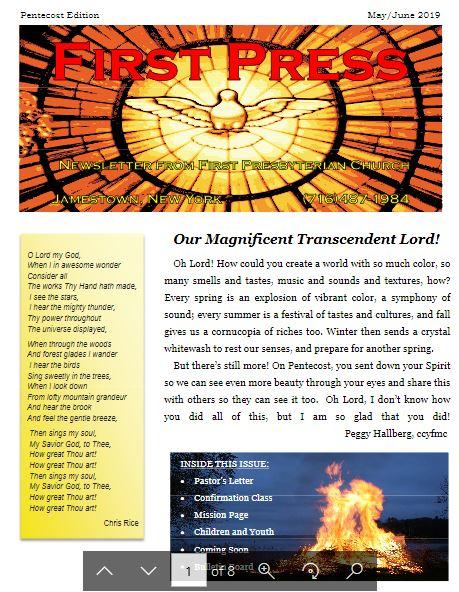 FPC Pentecost 2019 Newsletter