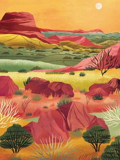 Amy Grimes - Mexico Landscape Print
