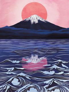 Amy Grimes - Mount Fuji Print