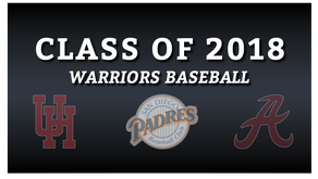 Warriors Baseball 2018 College Commits