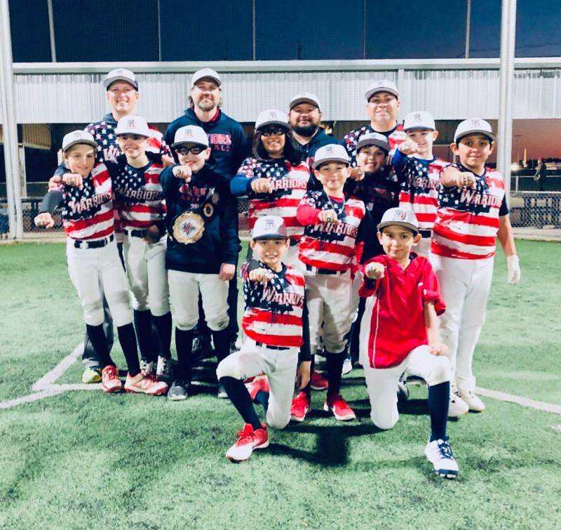 Warriors Baseball Academy 10U Silver Championship Team Photo, February 2019