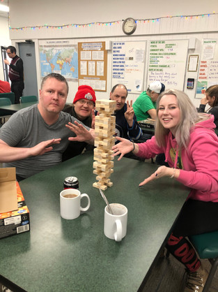 Possibly the tallest Jenga Tower in Clubhouse history !
