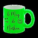 mug fluo vert personnalisé roanne riorges villerest.png