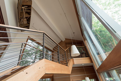 custom staircase side view, sacramento